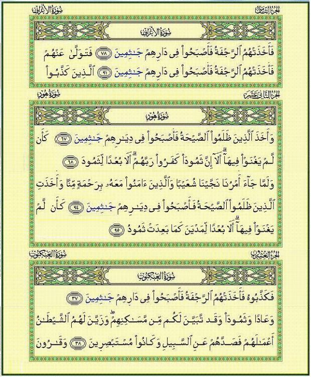 جاثمين في القرآن