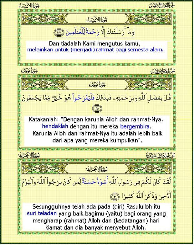 Dasar merayakan Maulid Nabi Muhammad
