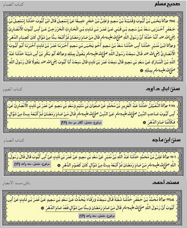 HADITS PUASA 6 HARI DI BULAN SYAWAL 01 HR. MUSLIM NO.1984 ABUDAWUD NO.2078 IBNUMAAJAH NO.1706 & AHMAD NO.22454