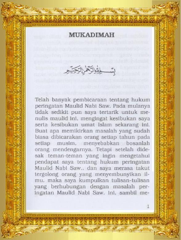 Dasar & Sadar Maulid Nabi Muhammad صلى الله عليه وسلم