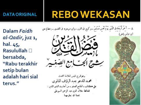 Image Result For Rebo Wekasan